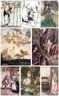 Arthur Rackham Over 560 Illustrations 38 Antique Books on DVD
