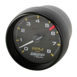 New Auto Meter Black Autogage 8 000 RPM Tach Tachometer Gauge 3 3 4