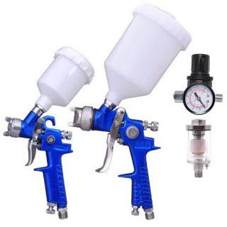 Features of HVLP Spray Gun Kit Auto Paint Gravity Feed 2 Sprayer