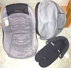 EDDIE BAUER Designer 22 REPLACEMENT Infant CAR SEAT COVER Charcoal