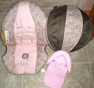 GRACO SNUGRIDE Infant Car Seat REPLACEMENT COVER ELYSE Pink
