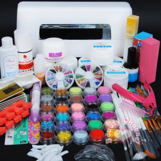 Lamp 30 Color Acrylic Powder Nail Art Kit Gel Tools Set 306