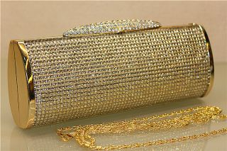 High End Quality Clutch Bag Genuine Austrian Crystal Rhinestone