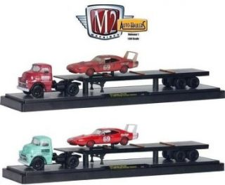 M2 Auto Haulers 1957 Dodge 700 COE 1969 Charger tractor trailer 1:64