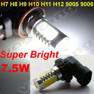 H9 H10 H11 H12 9005 9006 7 5W LED Car Auto Fog Light Lamp Bulb