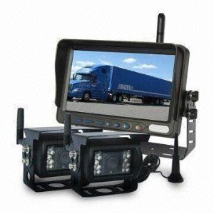 Wireless Automotive RV Tractor Backup Rear View Camera Kit Monitor and
