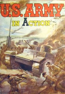 ARMY IN ACTION. CHILDRENS BOOK. STORY ABOUT WWII 1941, 1942