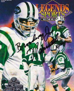 Sports Memorabilia Joe Namath New York Jets Alabama Autographed