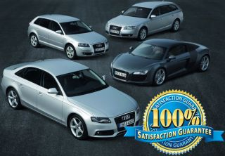AUDI COMPLETE FACTORY SERVICE & REPAIR MANUAL *ALL MODELS
