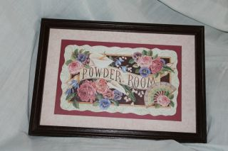 Home Interiors & Gifts framed print Powder Room