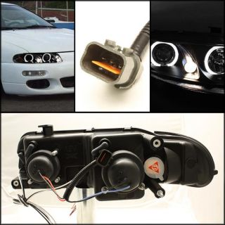 97 00 AVENGER / SEBRING BLACK HALO PROJECTOR HEADLIGHTS FRONT LAMPS