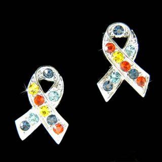 Swarovski Crystal ~Autism Asperger Cancer~~ Awareness Ribbon