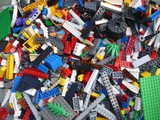 LEGO 1000 Bricks Blocks Baseplates Wheels CITY TOWN BULK Lot K8 Bricks