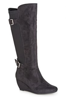 Avenue Jennifer Stretch Calf Wedge Boot