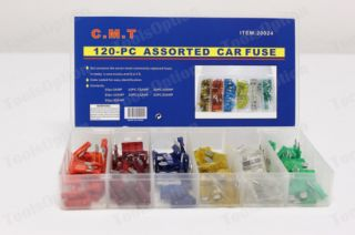 120 auto assorted car fuse blade truck automotive