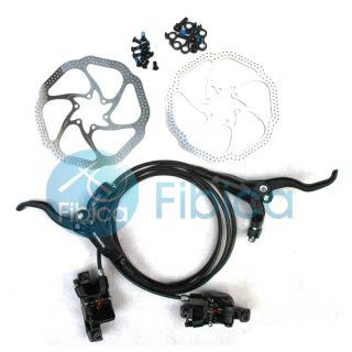 BL M446 M445 Hydraulic Brake Set Black with Avid HS1 Rotors Kit