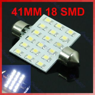 41mm Festoon Dome 18 SMD LED Car Interior Bulb Light Lamp White