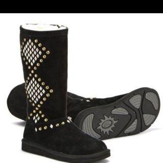 NEW Womens Ugg Australia Black Avondale Studded Boots Size 11