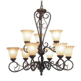 Woodbridge Lighting Avondale 9 Light Rustic Iron Chandelier Dining