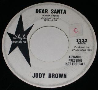 Brown Dear Santa Christmas Wedding Day HEAR 1961 PROMO 7 David Axelrod