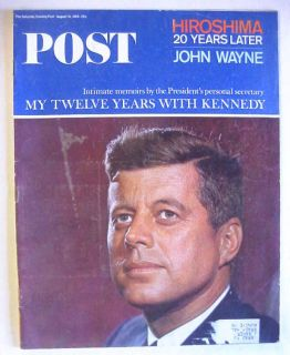 1965 August 14 s E Post Magazine JFK John Wayne Hiroshima 20 Years