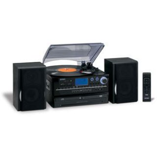 jensen home stereo system record player turntable cd player recorder
