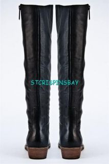 Lucky Brand Azura Knee High Boots Womens 9 New $175 Black Leather