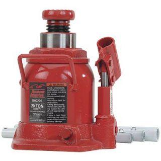 Blackhawk Automotive Heavy Duty Hydraulic Bottle Jack Short 20 Ton Cap