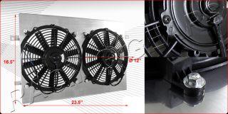 Ford Mustang AT Aluminum Cooling Fan Shroud+Radiator Fan   CFM 1250