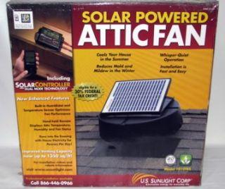Solar Powered Attic Fan 1010TRS w Power Controller Tax Credit