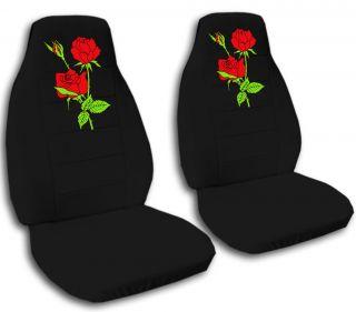 Nice Red Roses Design Car Seat Covers 12 Colors Choose