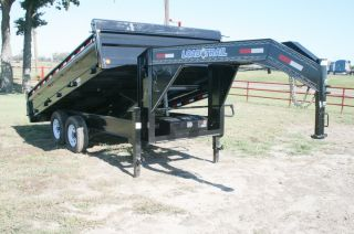 Gooseneck Hydraulic Dump / Disaster Recovery Trailer with 7,000# Axles