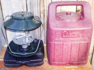 Coleman mdl 5152 Propane Lantern with Carrying Case GOOD CONDITION