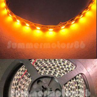 5M 16ft Audi Style DRL Car LED Strip Light Bright Amber 500LEDS Super