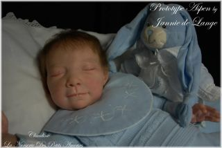 Reborn Baby Prototype Aspen by Jannie de Lange Anatomically Correct