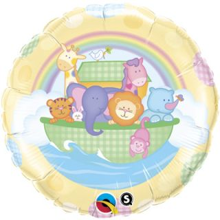 BABY SHOWER 18 balloons NOAHS ARK & ANIMALS BIBLE NEW BABY