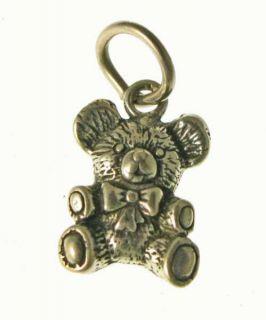 925 Sterling Silver Baby Teddy Bear Charm Pendant Stamped Hallmark