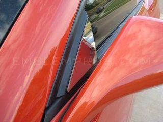 2010 2011 2012 Camaro Side View Mirror Trim Stainless Steel