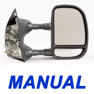 PS RH Manual camper Tow Towing Side View Mirror Telescoping