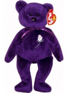 Princess Diana Beanie Baby Bear 1st Edition 1 1997 PVC