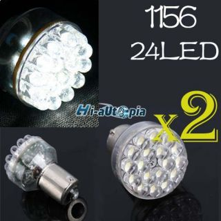 2x car 12v 1156 7506 24 led tail brake turn signal light bulb lamp