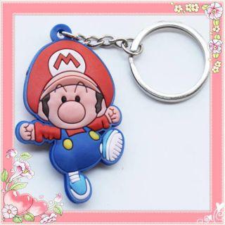 Nintendo Super Mario Baby Mario Rubber Key Chain Ring Accessories