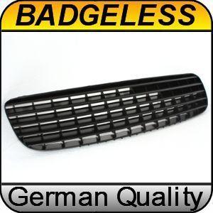 Audi TT 8N 98 06 Sport Grill Grille Bar Badgeless Black