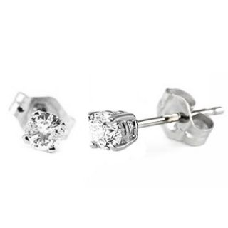 10 carat round baby diamond earrings studs platinum no jewelry box