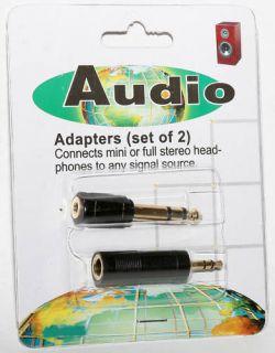 Audio Adapter Mini Plug Headphone Jack 1 8 to 1 4