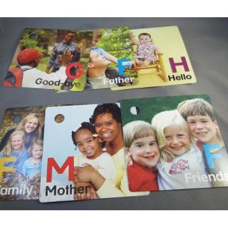 Baby Einstein English / Spanish / French Language Flash Cards   Set of