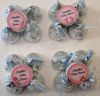 Personalized Baby Girl Hersheys Kiss Labels Bottle Feet Pacifier