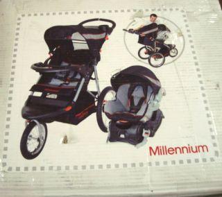 New Baby Trend Expedition Jogging Stroller Travel System TJ94073 bike
