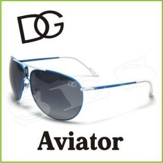 DG Eyewear Sunglasses Shades Womens Aviator Light Blue