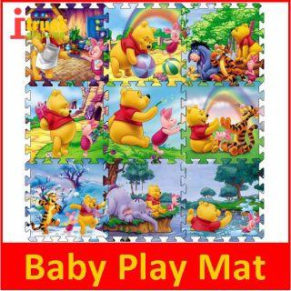 Foam Baby Play Mats with Disney Story Winnie Pooh B 12 5 31 5cm 9pcs